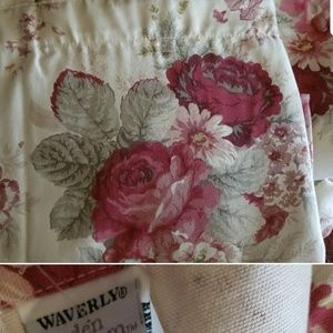 Vintage shabby chic Waverly Norfork Rose curtains